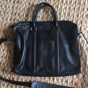 Leather Coach Laptop Bag